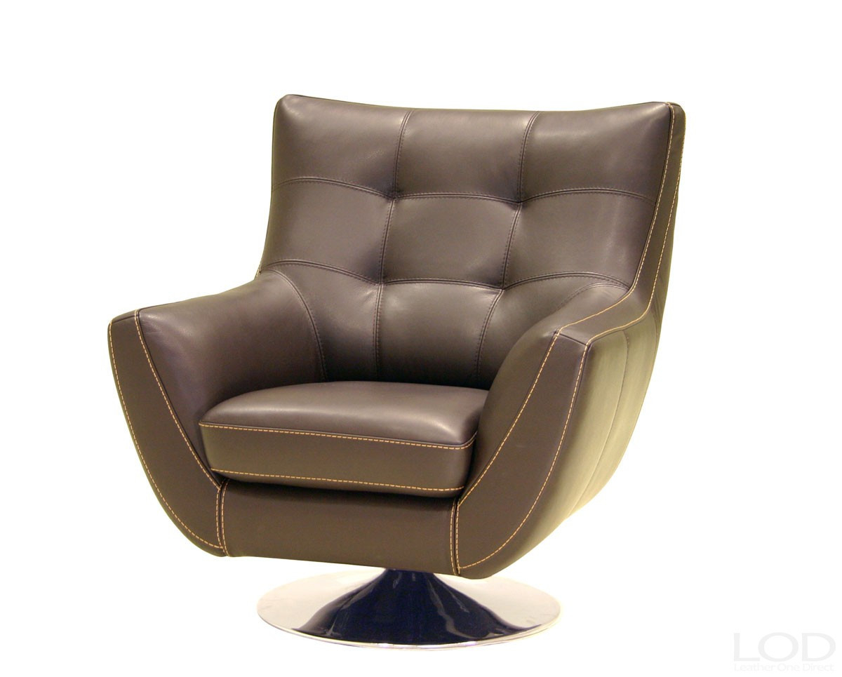 Well Liked Chocolate Brown Leather Tufted Swivel Chairs With Dark Brown Leather Tufted Swivel Chairs Living Room (Gallery 10 of 20)