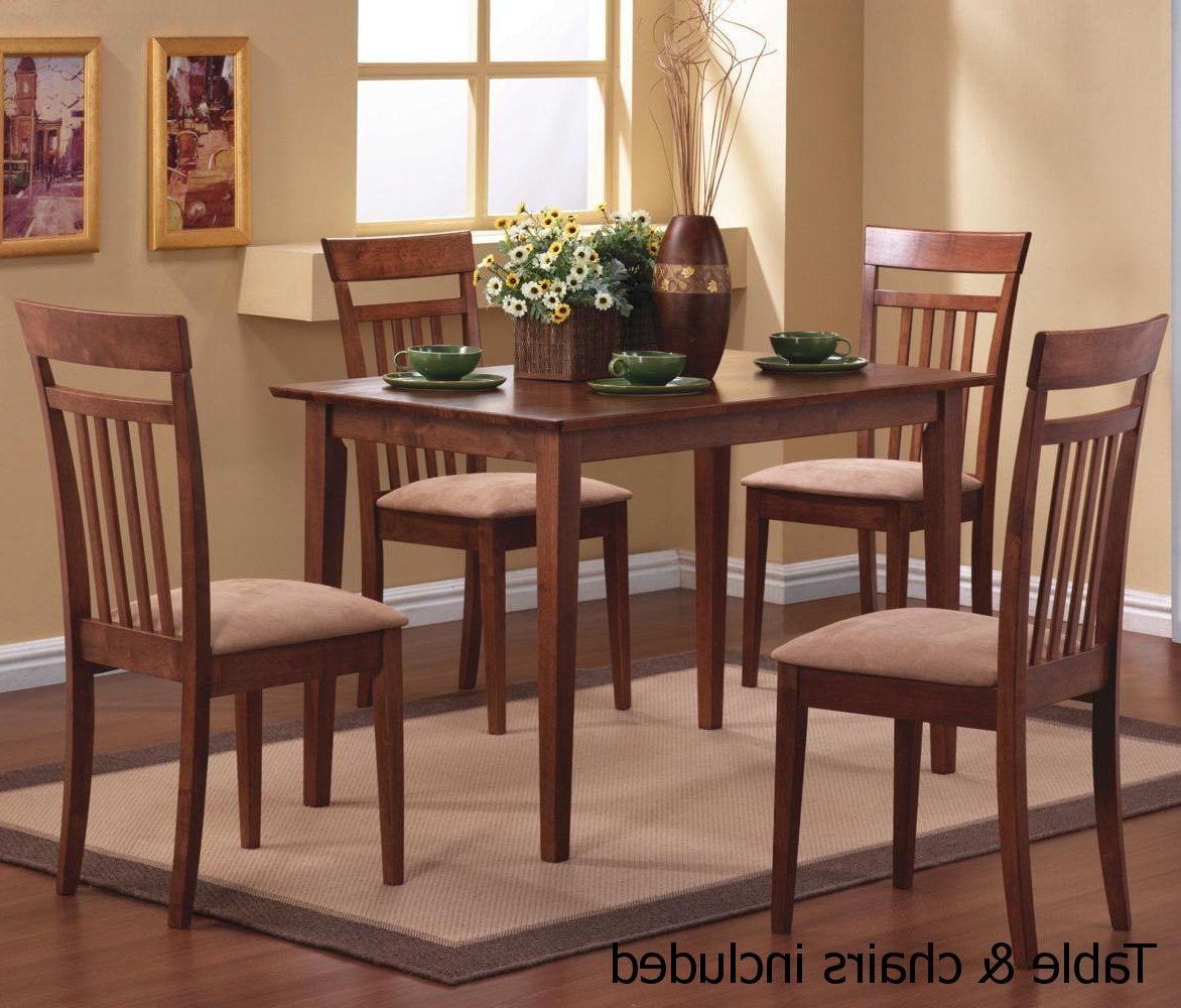 Well Liked Dining Table With Sofa Chairs Inside Brown Wood Dining Table And Chair Set – Steal A Sofa Furniture (View 11 of 20)