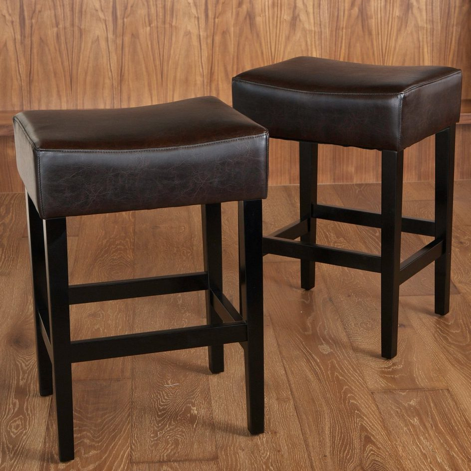 Well Liked Impressive Excellent Padded Saddle Bar Stools 19 Grandin Road Best With Grandin Leather Sofa Chairs (View 17 of 20)