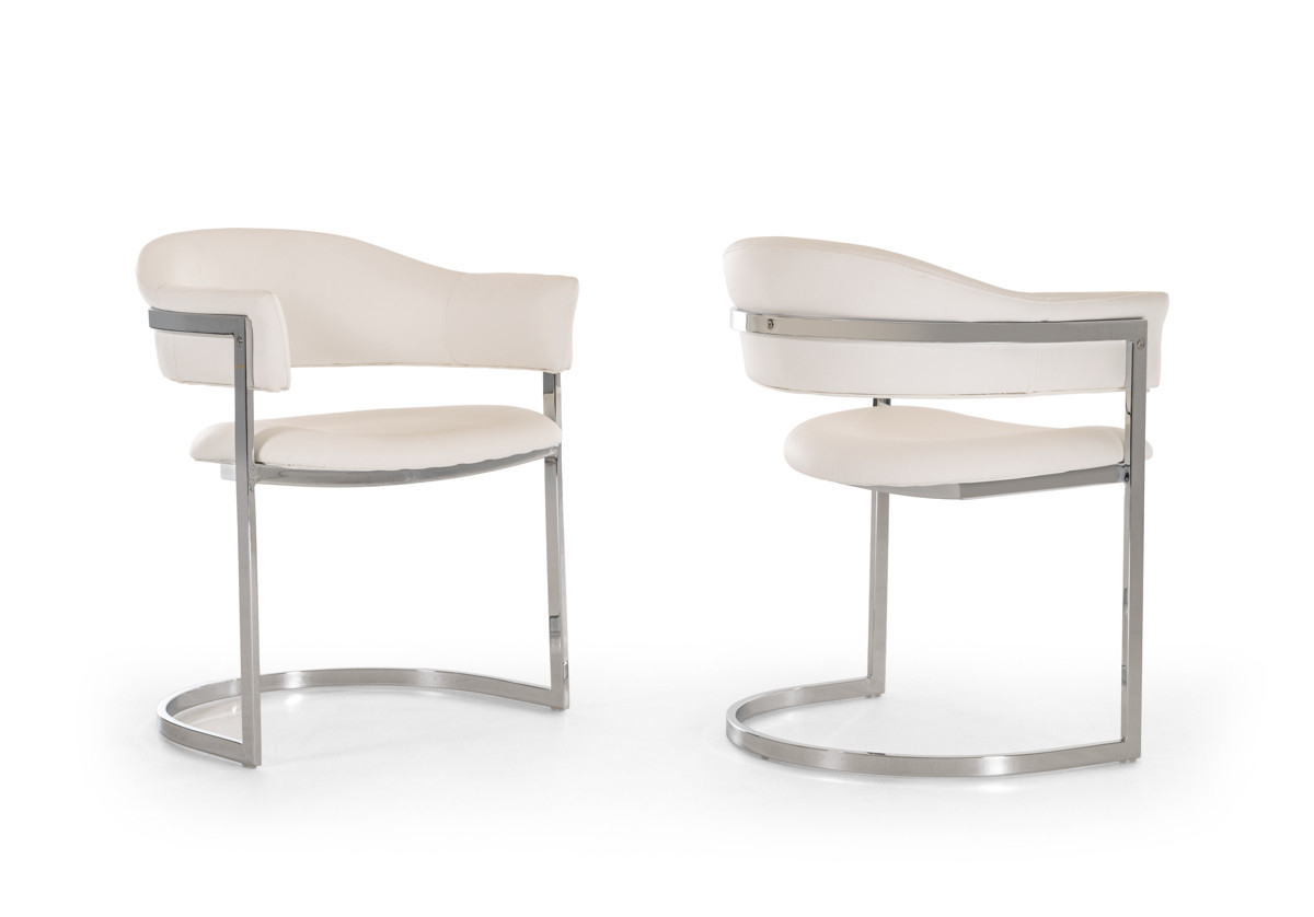 Well Liked Modrest Allie Contemporary White Leatherette Dining Chair Within Allie Dark Grey Sofa Chairs (View 10 of 20)