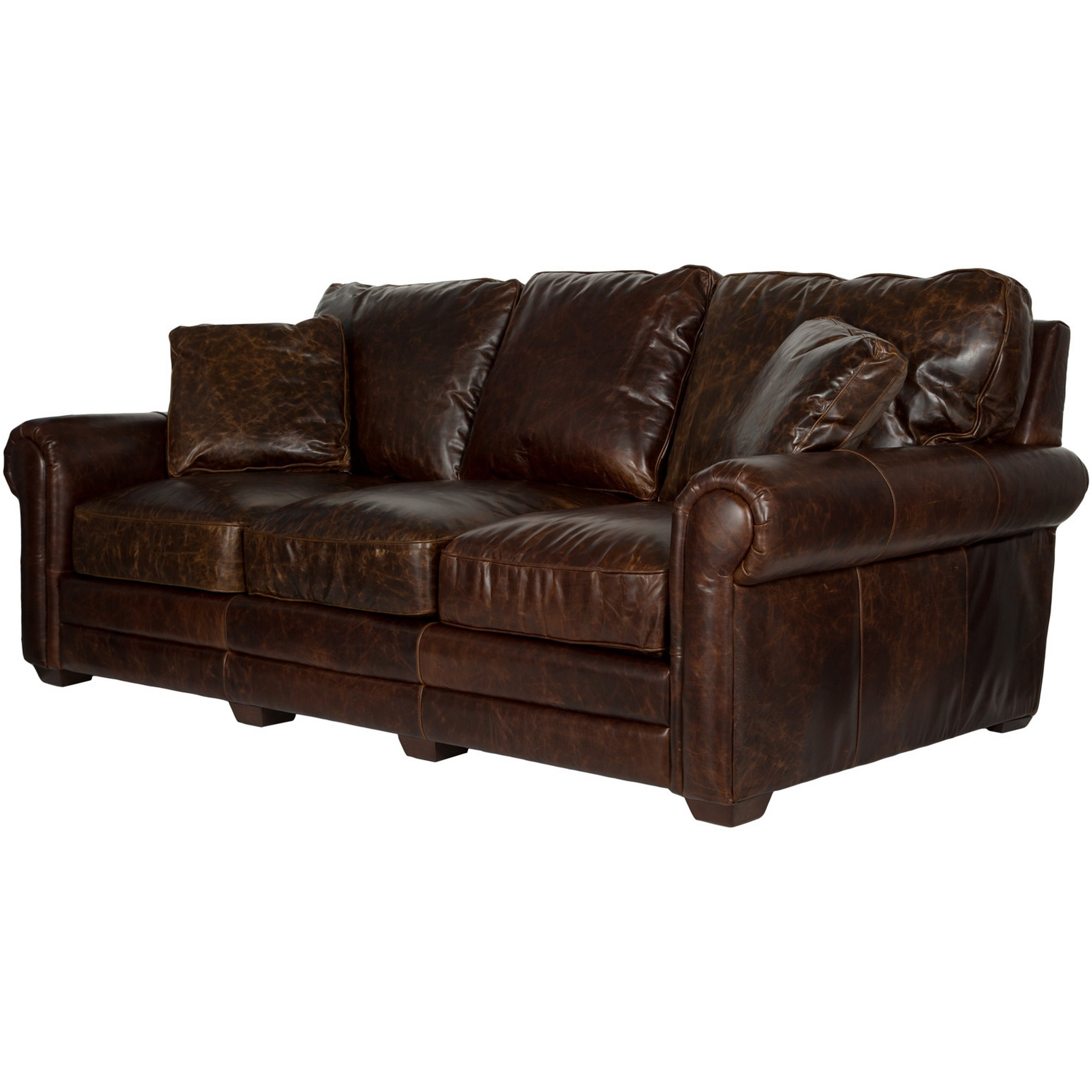 Well Liked Walter Leather Sofa Chairs Pertaining To Shop Safavieh Couture High Line Collection Walter Cocoa Leather Sofa (View 20 of 20)