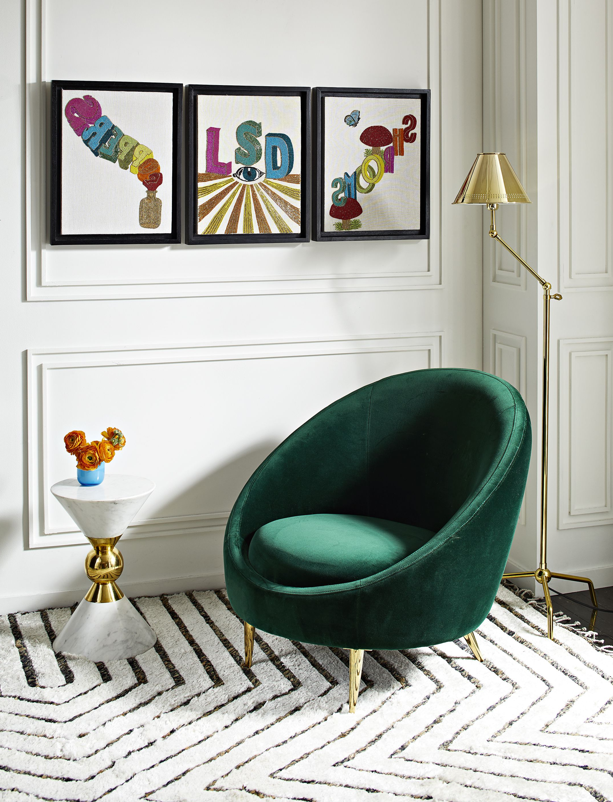 Widely Used Alder Grande Ii Swivel Chairs Inside The Jonathan Adler Ether Club Chair In Rialto Emerald (Green Velvet (Gallery 14 of 20)