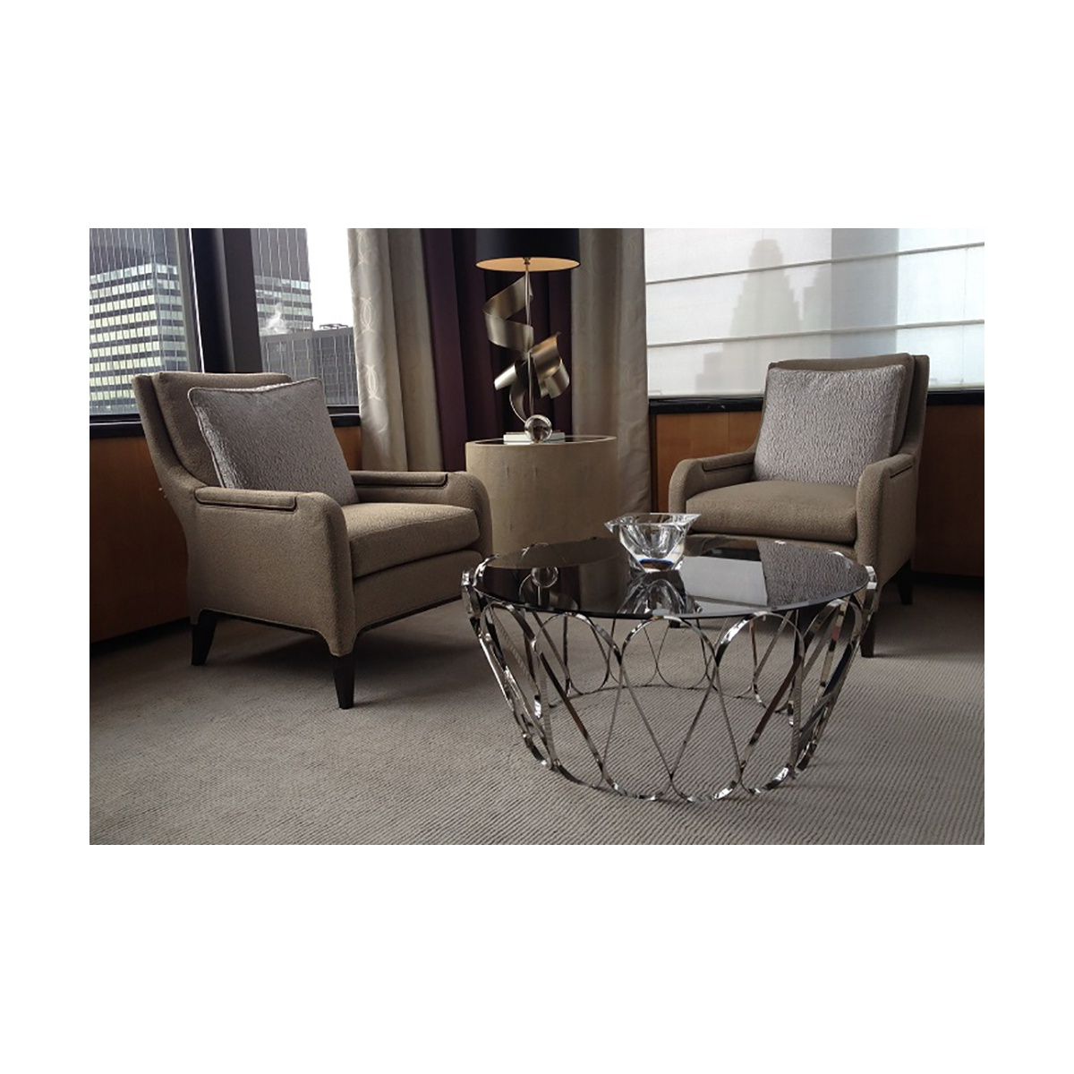 Widely Used Aquarius Glass Coffee Table, Stainless Steel (View 20 of 20)