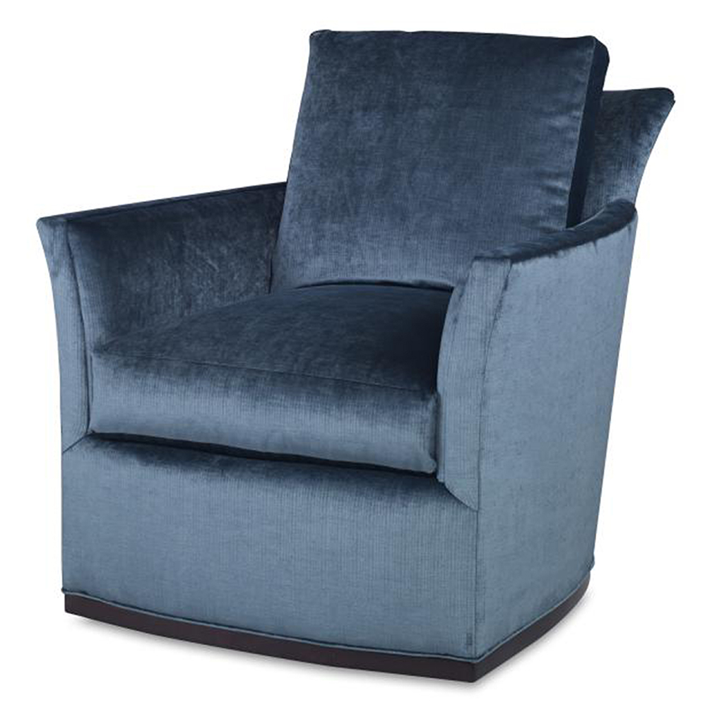 Widely Used Bailey Roll Arm Skirted Swivel Gliders Pertaining To Bailey Swivel Chair – Luxe Home Company (View 4 of 20)