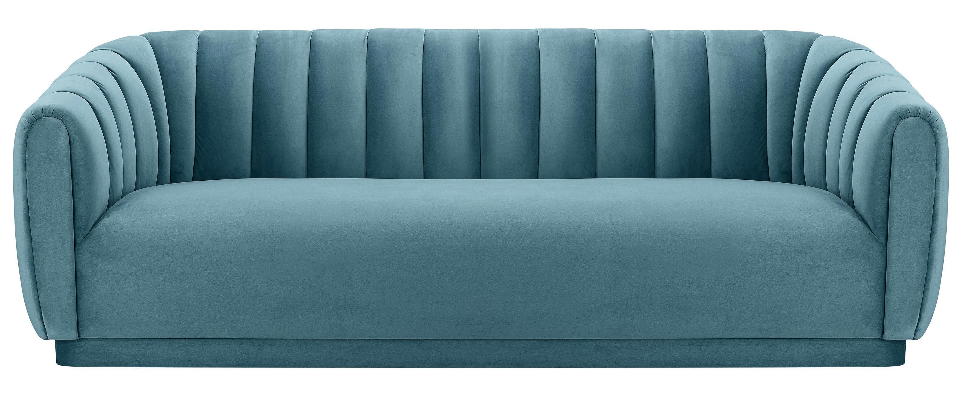 Widely Used Marissa Sofa Chairs Regarding Marissa Velvet Sofa, Sea Blue (View 20 of 20)