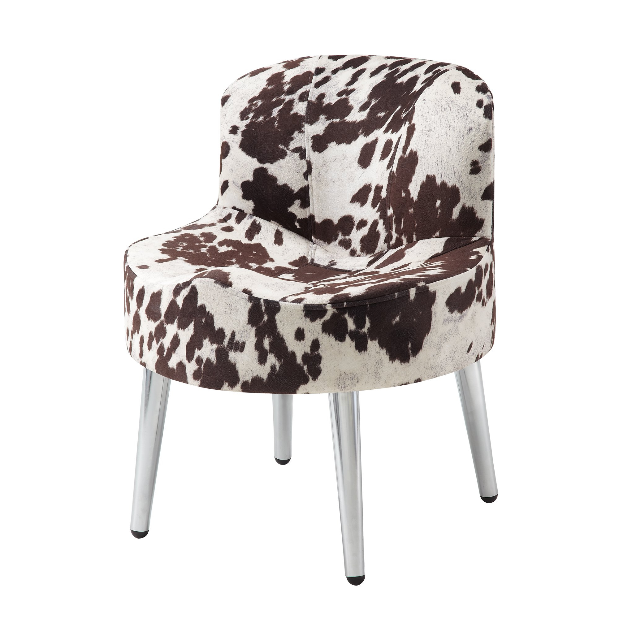 Widely Used Shop Tribecca Home Bridgeport Ergonomic Contour Cowhide Fabric Inside Circuit Swivel Accent Chairs (Gallery 9 of 20)