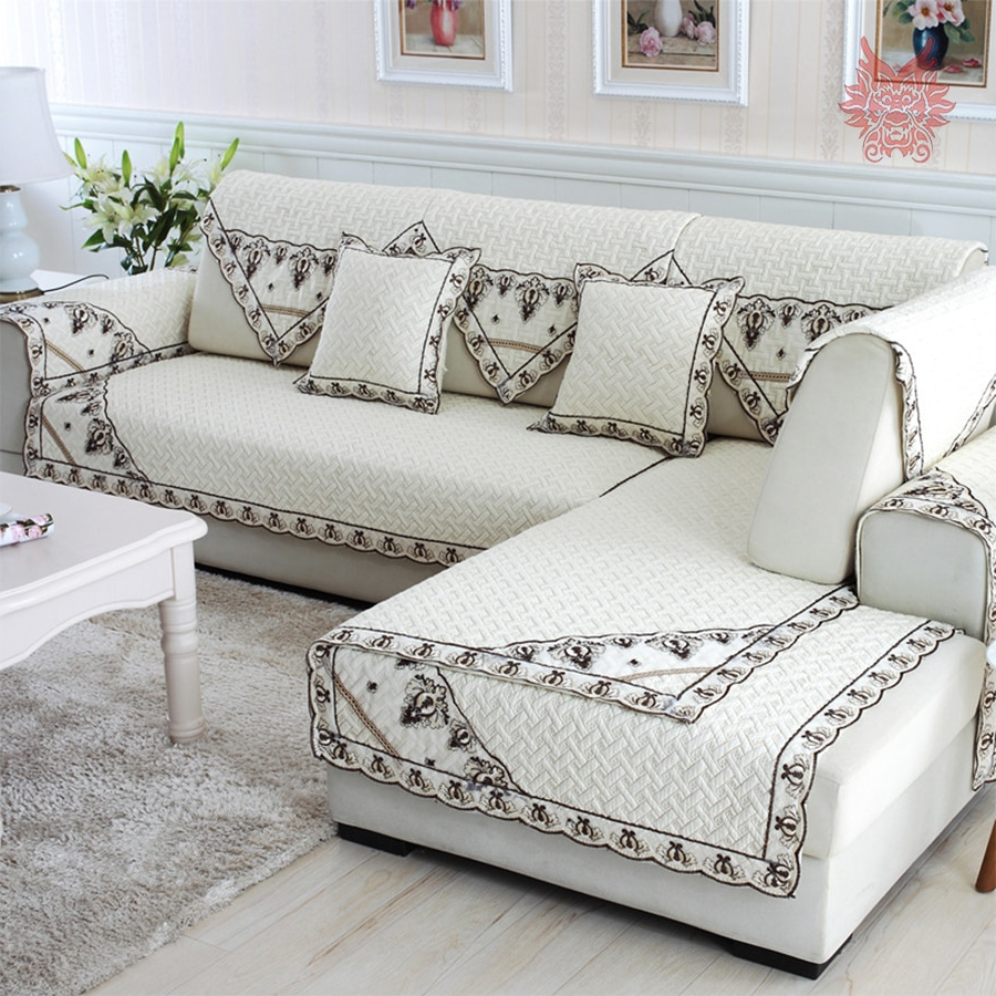 Widely Used Sofa And Chair Slipcovers Regarding European Style Cotton Quilted Sofa Cover Chair Slipcovers Canape (Gallery 20 of 20)