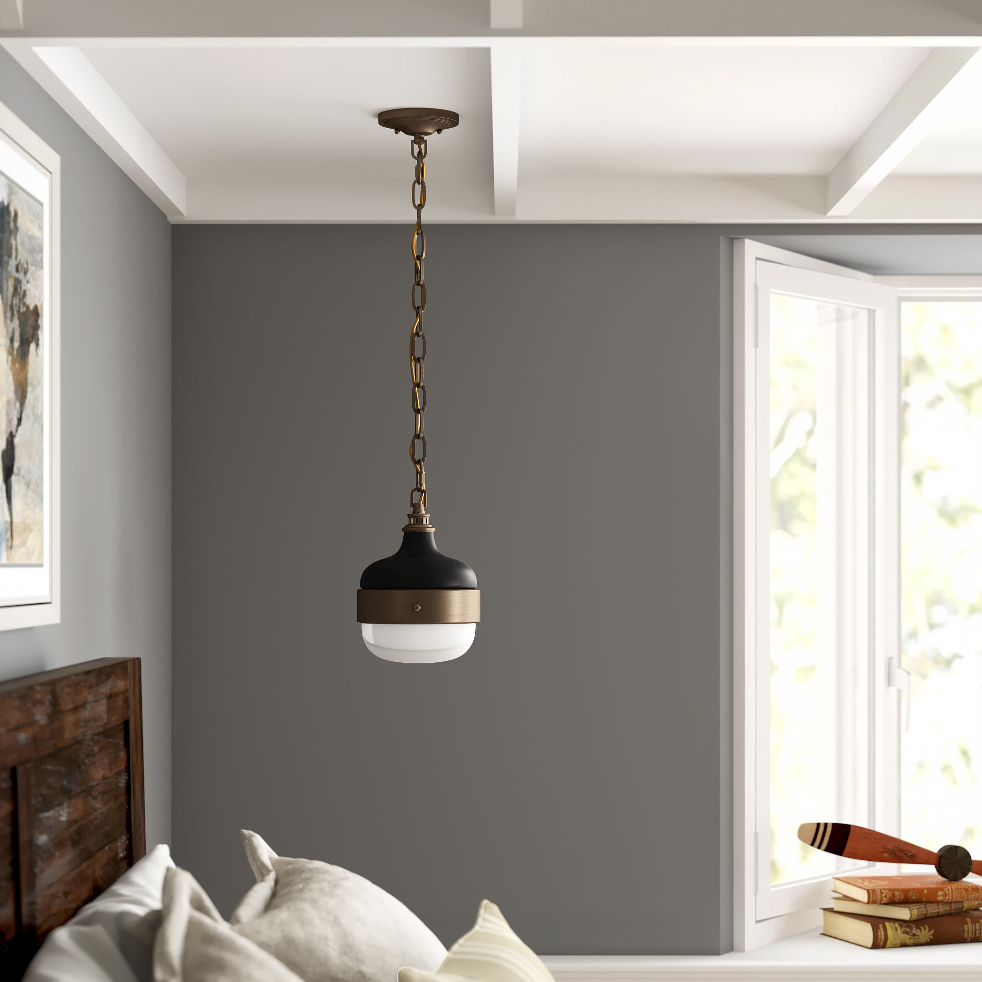 1 Light Globe Pendant Within Well Known Ryker 1 Light Single Dome Pendants (View 2 of 20)