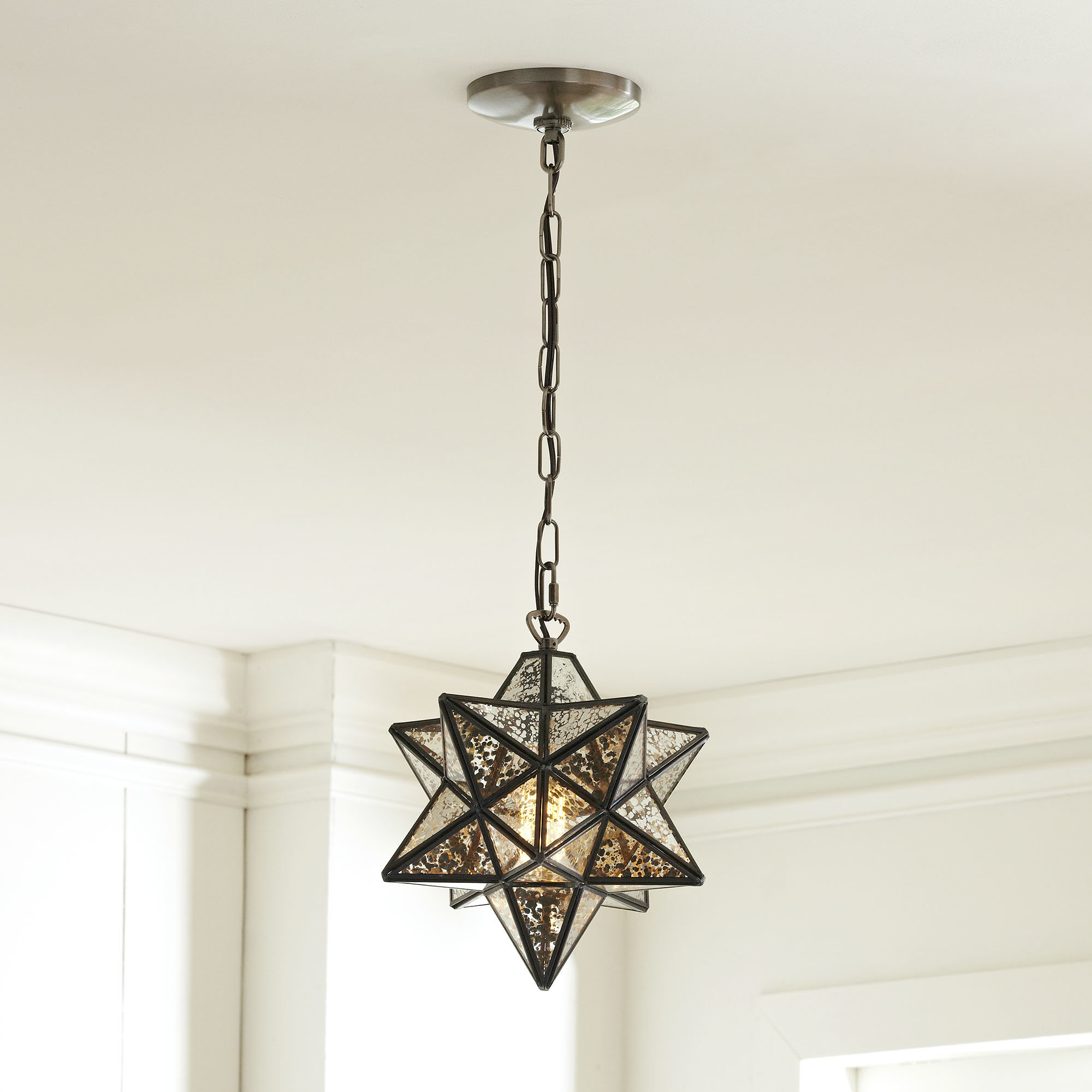 1 Light Single Star Pendant Pertaining To Well Known Louanne 1 Light Lantern Geometric Pendants (View 20 of 20)