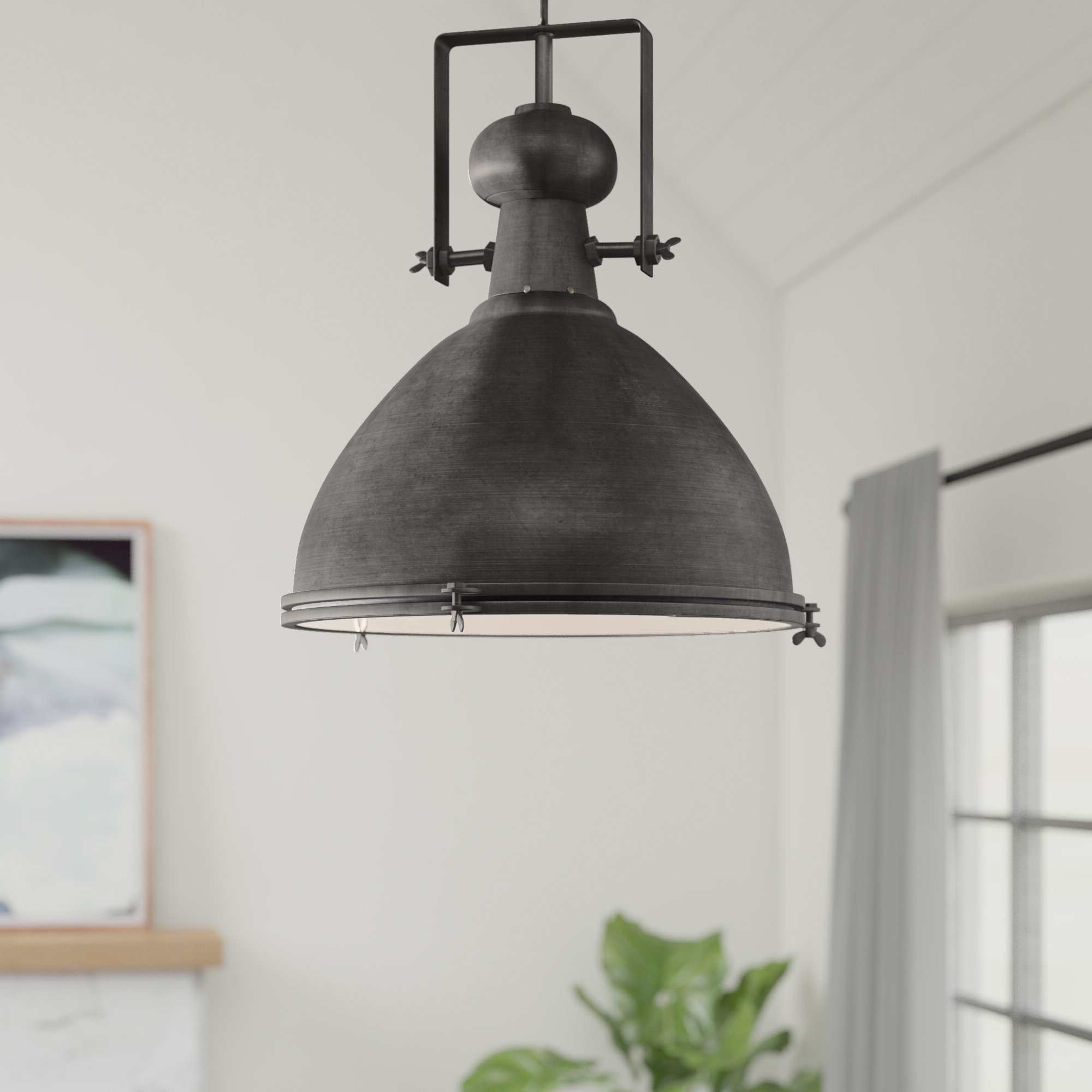 17 Stories Lavern 1 Light Single Dome Pendant Pertaining To Newest Hamilton 1 Light Single Dome Pendants (Gallery 3 of 20)