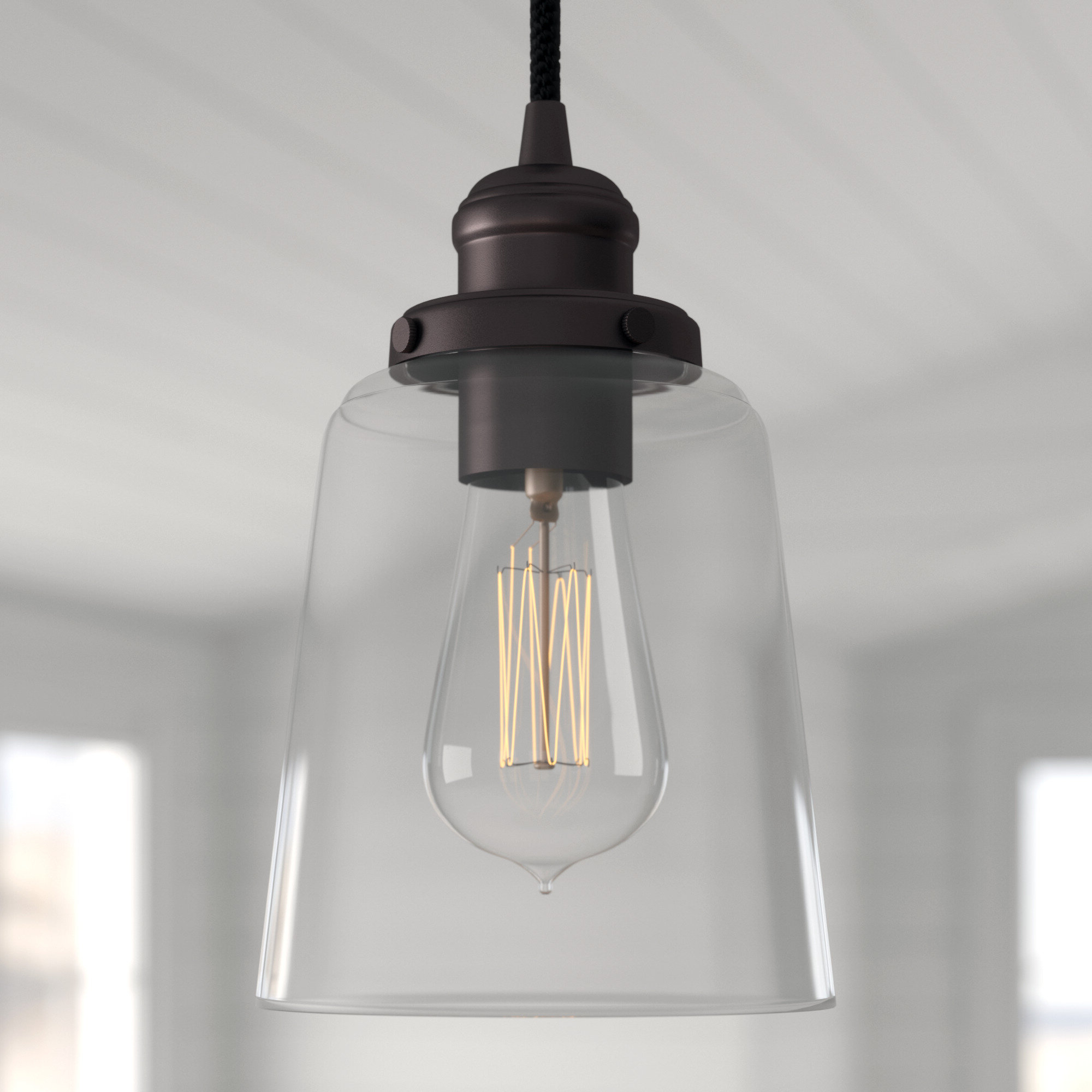 2019 1 Light Single Bell Pendant With Sargent 1 Light Single Bell Pendants (Gallery 11 of 20)