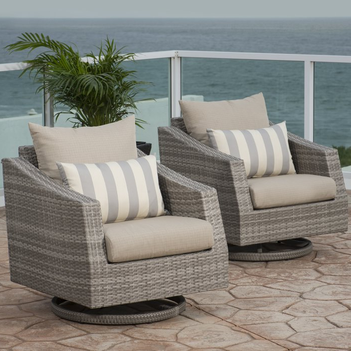 2019 Castelli Swivel Patio Chair With Sunbrella Cushions For Castelli Patio Sofas With Sunbrella Cushions (Gallery 11 of 20)