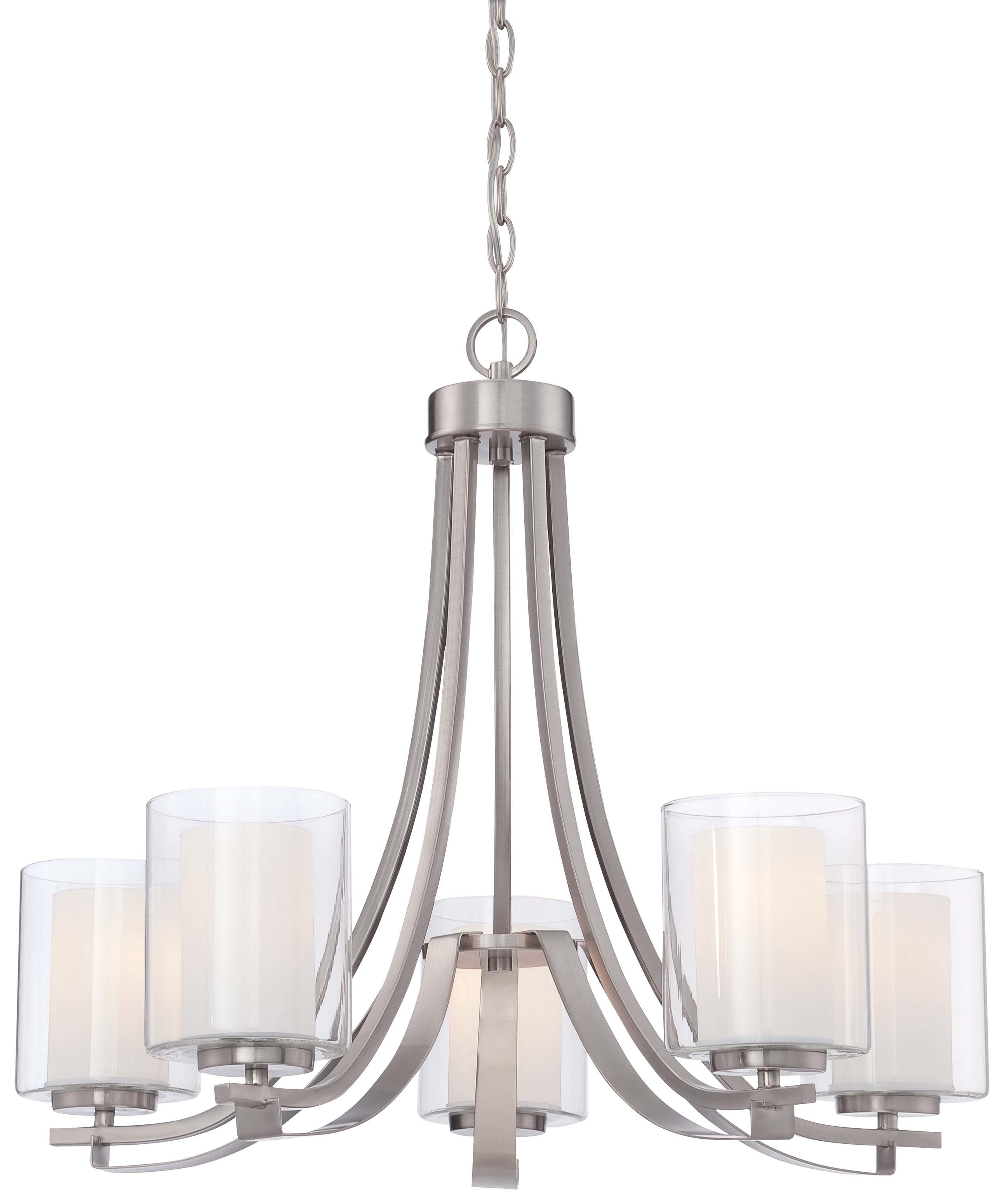 2019 Crofoot 5 Light Shaded Chandeliers Intended For Demby 5 Light Shaded Chandelier (Gallery 2 of 20)