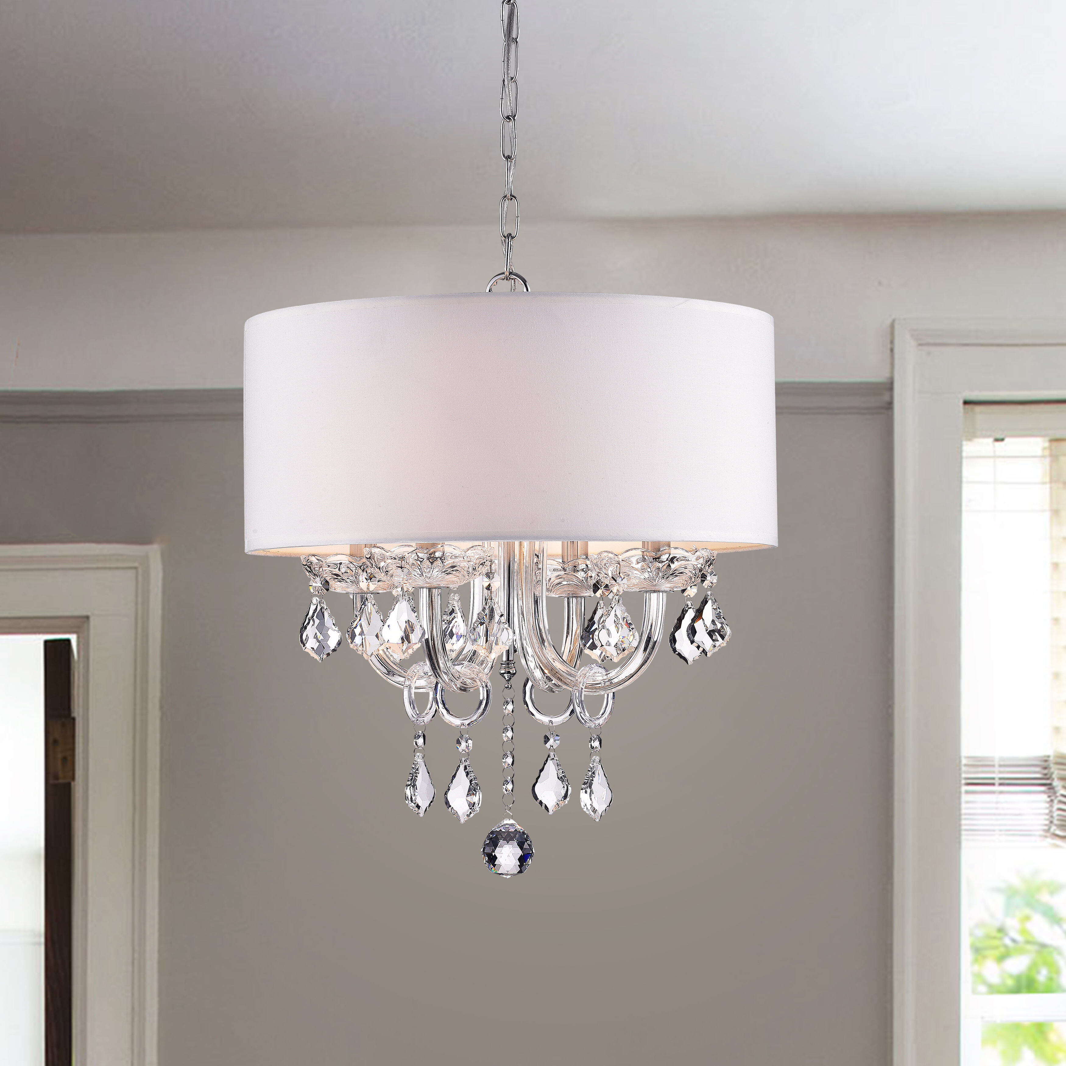 2019 Dunaghy 4 Light Chandelier With Alverez 4 Light Drum Chandeliers (View 1 of 20)