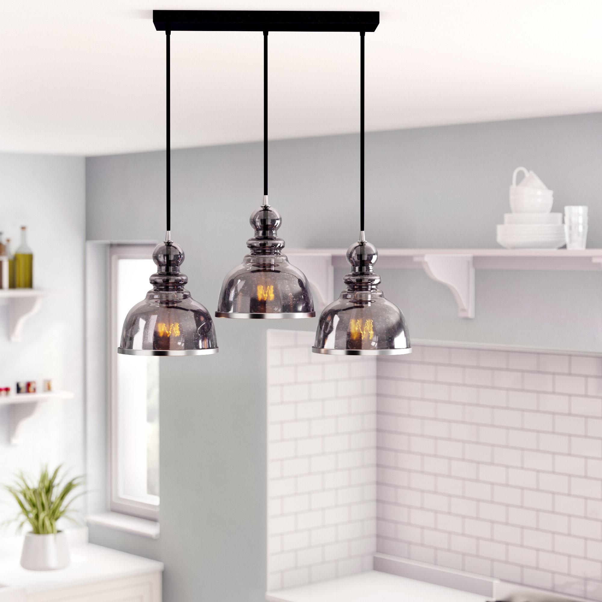 2019 Dunson 3 Light Kitchen Island Pendants Pertaining To Humphries 3light Kitchen Island Pendant Lighting Kitchen (View 6 of 20)