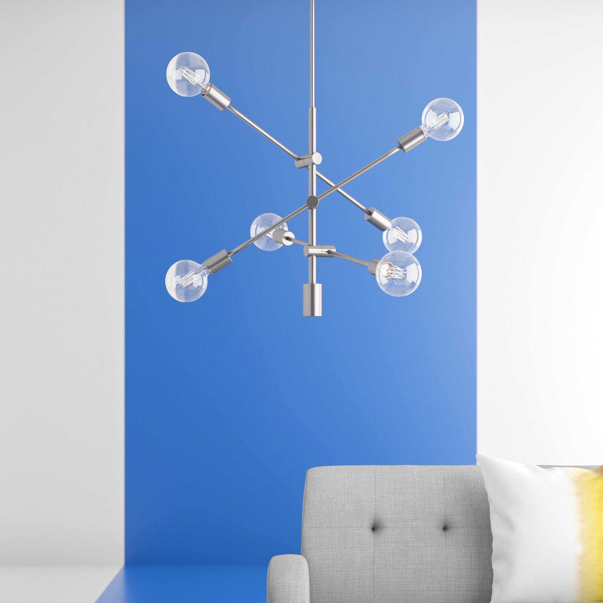 2019 Eladia 6 Light Sputnik Chandeliers Pertaining To Eladia 6 Light Sputnik Chandelier (Gallery 2 of 20)