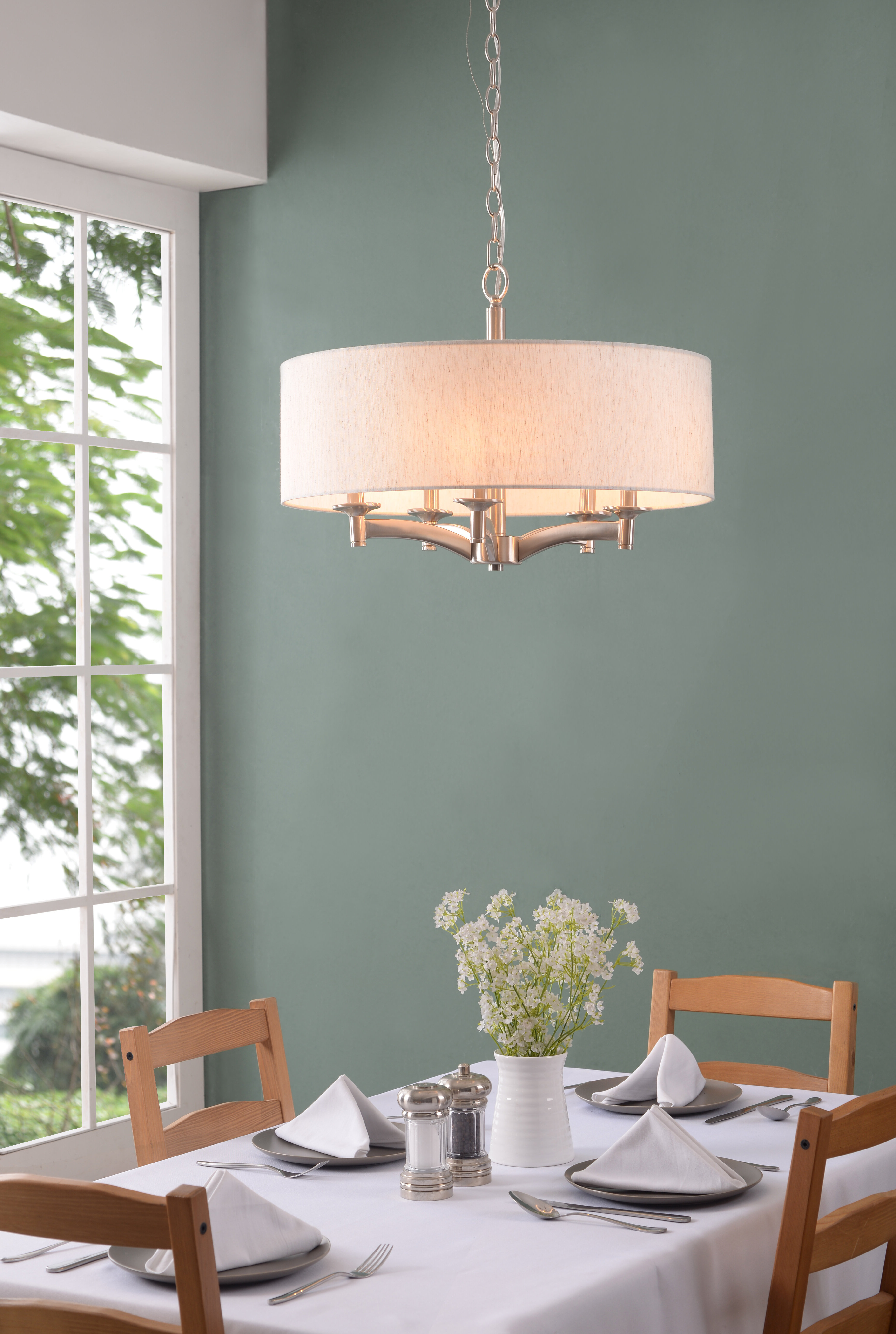 2019 Harlan 5 Light Drum Chandelier With Harlan 5 Light Drum Chandeliers (Gallery 3 of 20)