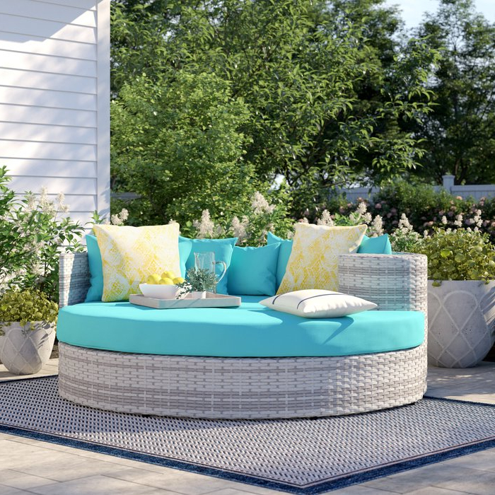 2019 Keiran Patio Daybeds With Cushions In Falmouth Patio Daybed With Cushions (View 1 of 20)