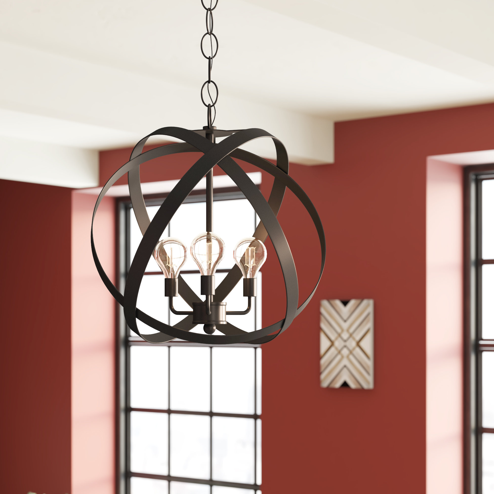 2019 La Barge 3 Light Globe Chandeliers Pertaining To Fordwich 3 Light Globe Chandelier (Gallery 6 of 20)