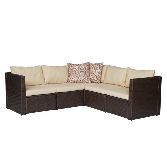 2019 Larsen Patio Sectionals With Cushions Inside Larsen Patio Sectional With Cushions (Gallery 2 of 20)