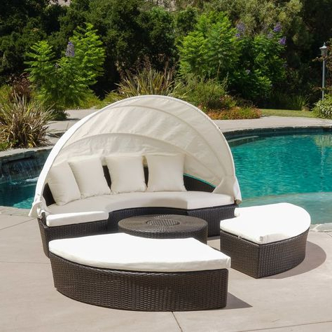 2019 List Of Pinterest Patio Daybeds Beds Images & Patio Daybeds Regarding Leiston Round Patio Daybeds With Cushions (View 1 of 20)