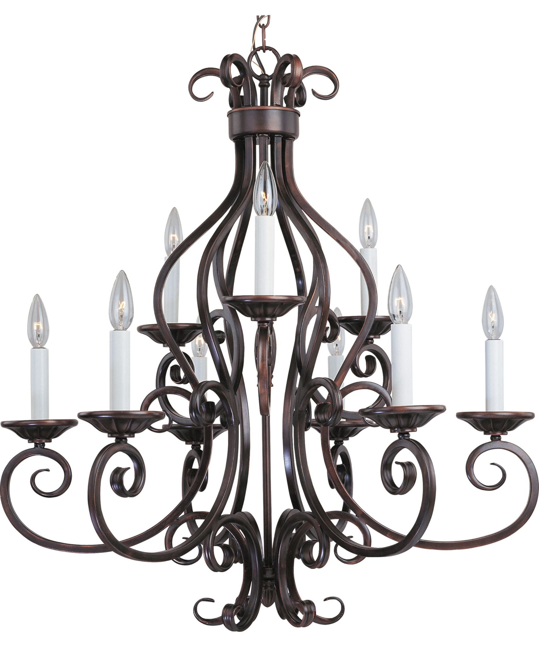2019 Manor 29 Inch 9 Light Chandeliermaxim Lighting With Gaines 9 Light Candle Style Chandeliers (View 2 of 20)