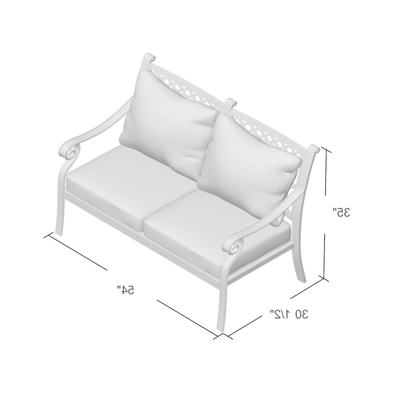 2019 Nadine Loveseat With Cushions Within Nadine Loveseats With Cushions (Gallery 4 of 20)