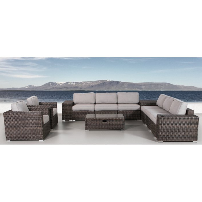 2019 Nolen Patio Sectionals With Cushions For Nolen 12 Piece Rattan Sectional Seating Group With Cushions (View 1 of 20)