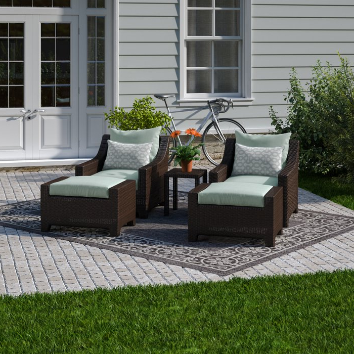 2019 Northridge 5 Piece Conversation Set With Sunbrella Cushions Pertaining To Northridge Patio Sofas With Sunbrella Cushions (View 5 of 20)