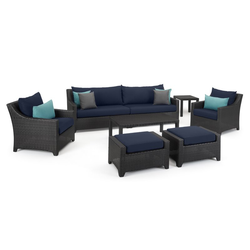 2019 Northridge 8 Piece Sofa Seating Group With Sunbrella Cushions With Kunz Loveseats With Cushions (View 1 of 20)