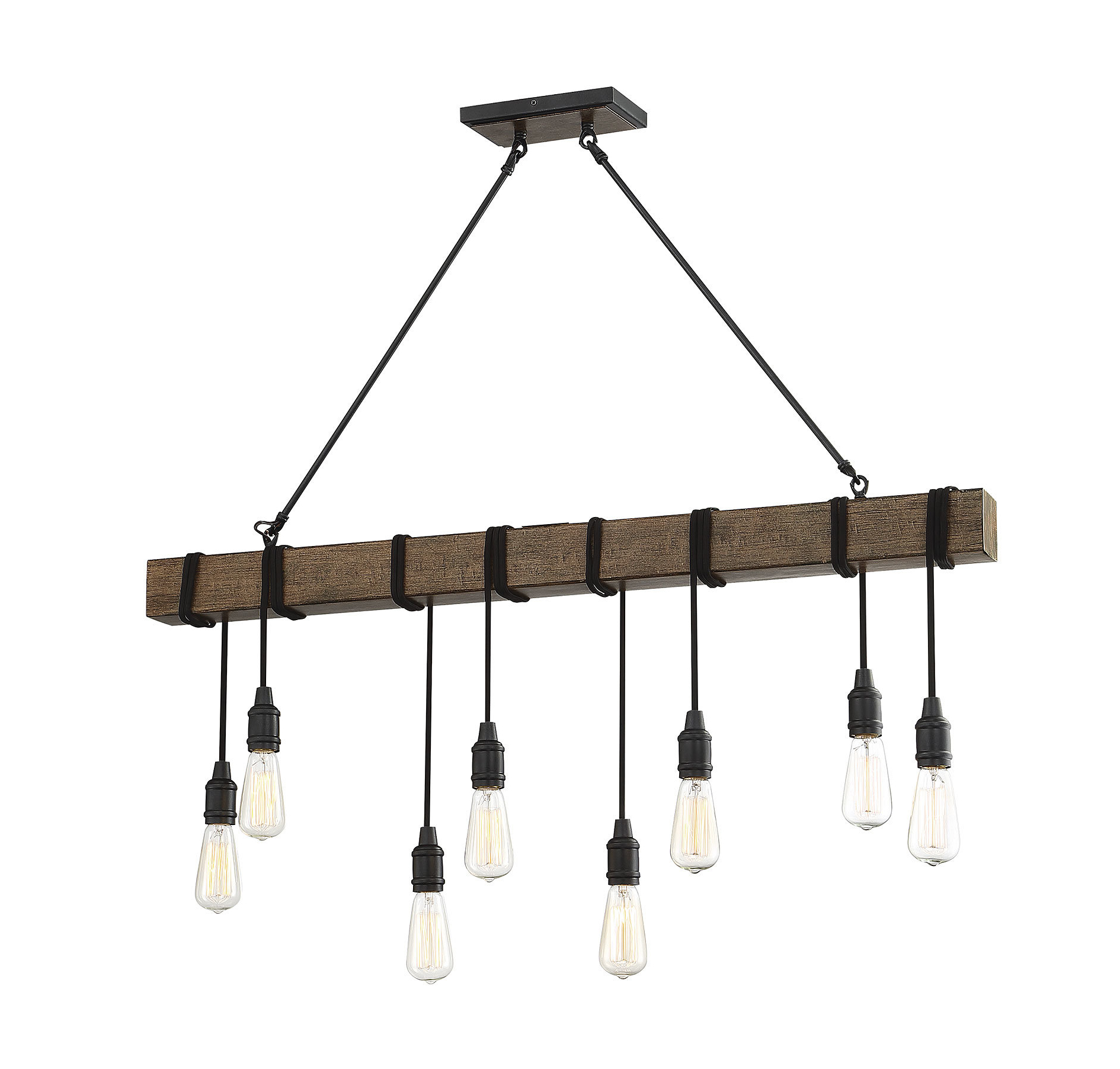 2019 Novogratz Vintage 5 Light Kitchen Island Bulb Pendants Regarding Gracie Oaks Wyckhoff 8 Light Kitchen Island Bulb Pendant (Gallery 18 of 20)