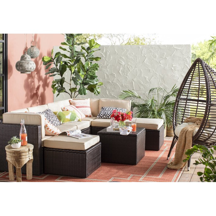2019 Olu Bamboo Large Round Patio Daybed With Cushions For Olu Bamboo Large Round Patio Daybeds With Cushions (View 4 of 20)