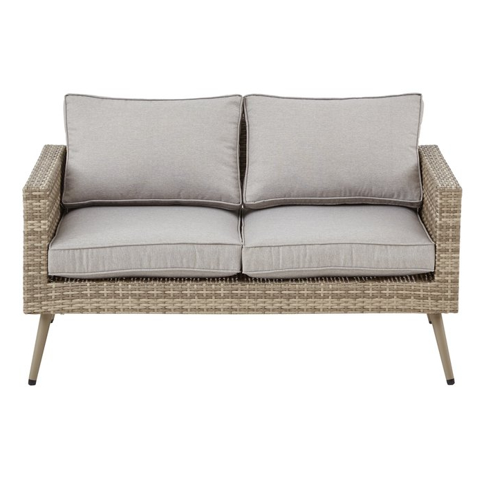 2019 Pantano Loveseat With Cushions For Sylvania Outdoor Loveseats (View 1 of 20)
