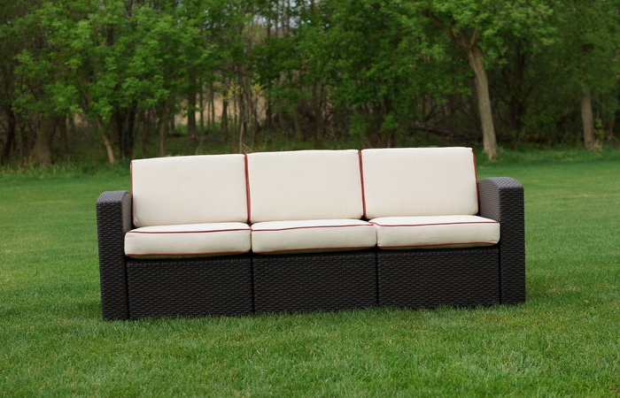 2019 Patioe Sofa Outdoor Wicker Seater Cushions Resin Sofapatio In Mcmanis Patio Sofas With Cushion (Gallery 19 of 20)