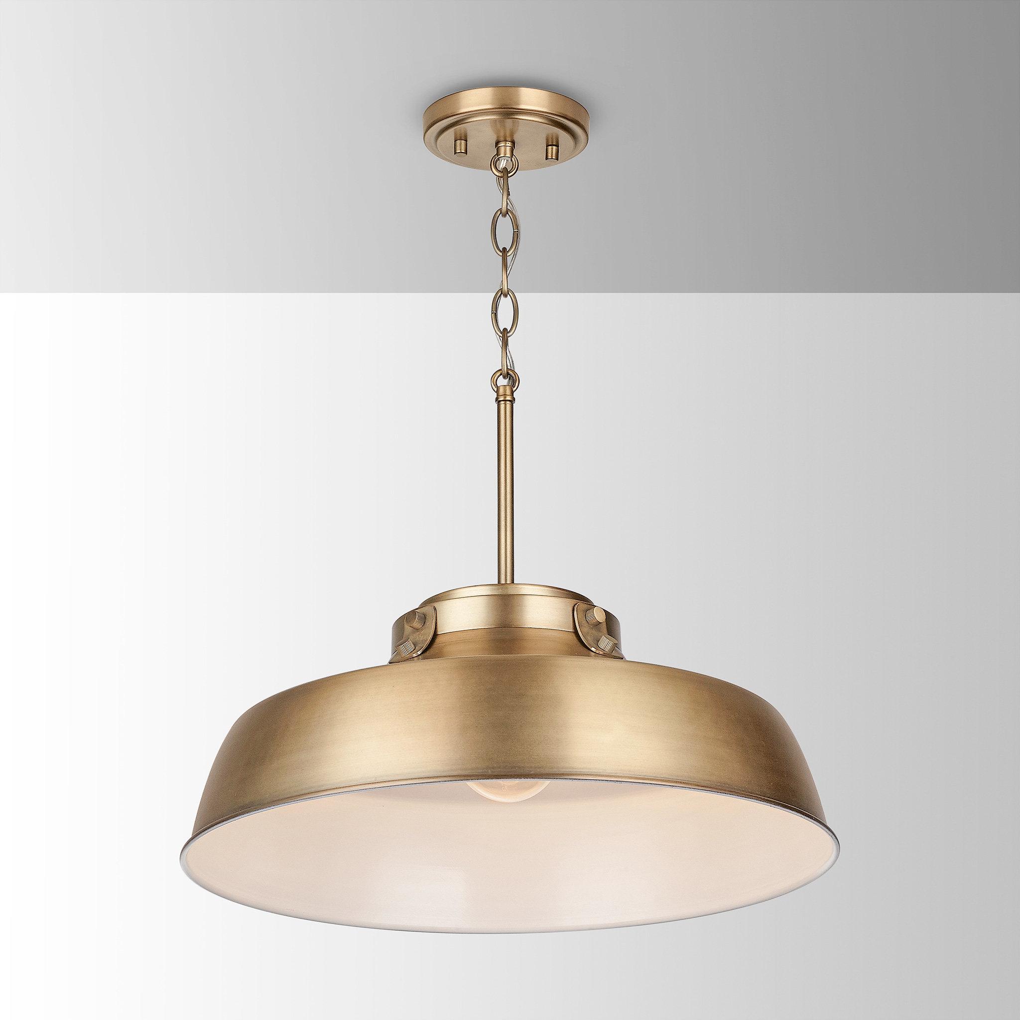 2019 Radtke 3 Light Single Drum Pendants Pertaining To 1 Light Dome Pendant (Gallery 9 of 20)