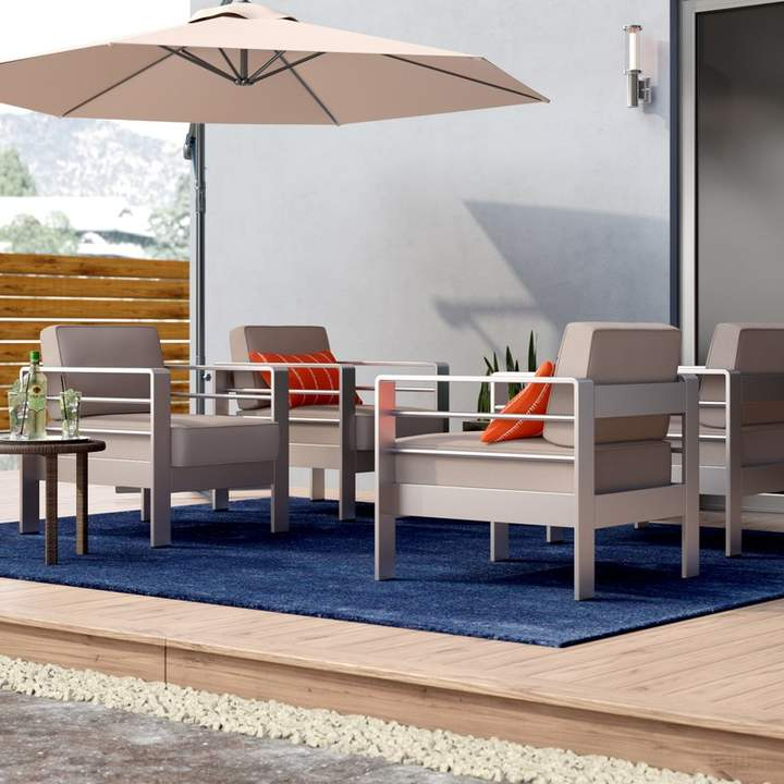 2019 Royalston Patio Sofas With Cushions Inside Brayden Studio Royalston Outdoor Patio Chair With Cushion In (Gallery 13 of 20)