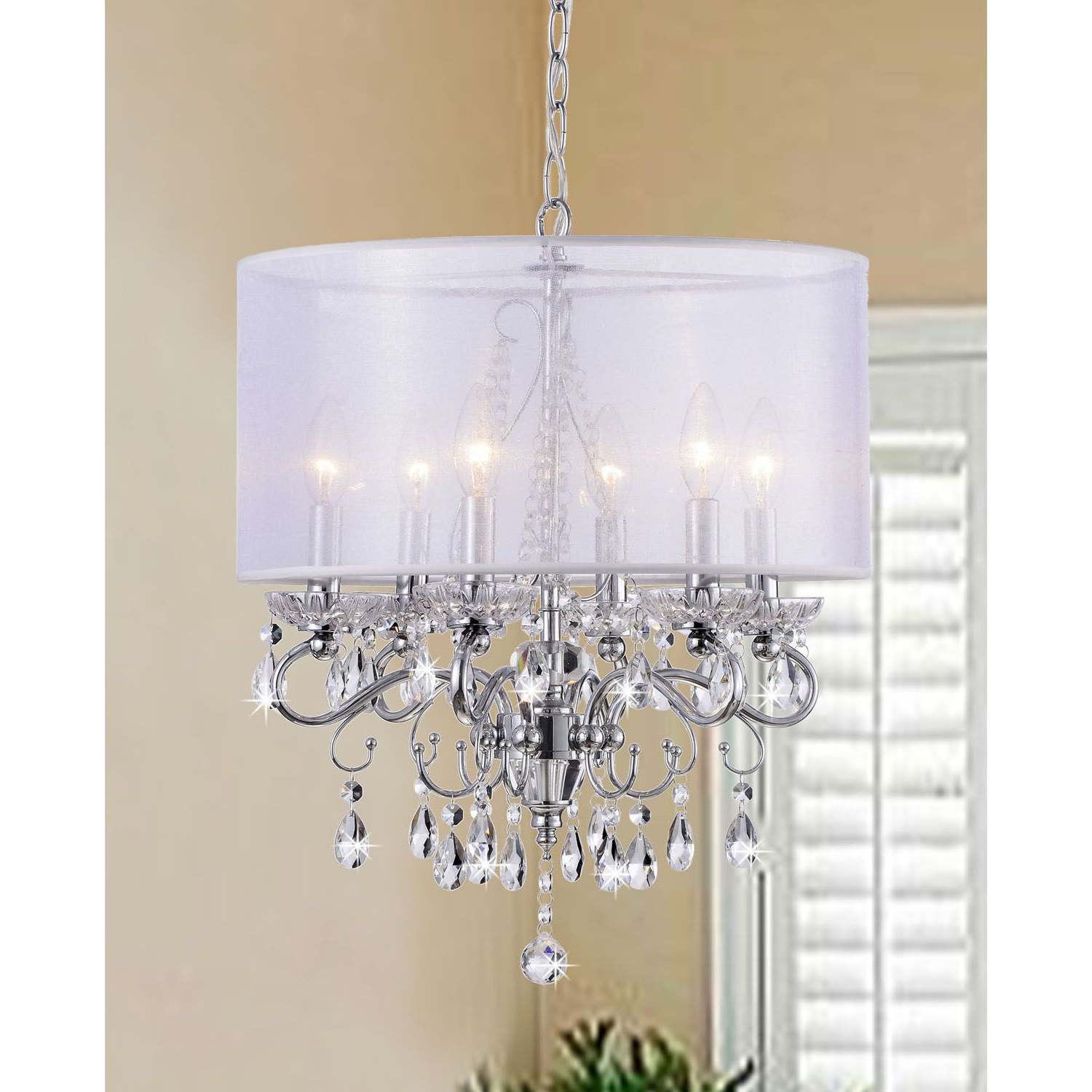2019 Sinead 4 Light Chandeliers Pertaining To Create An Elegant Ambience In Your Home With This Crystal (View 12 of 20)
