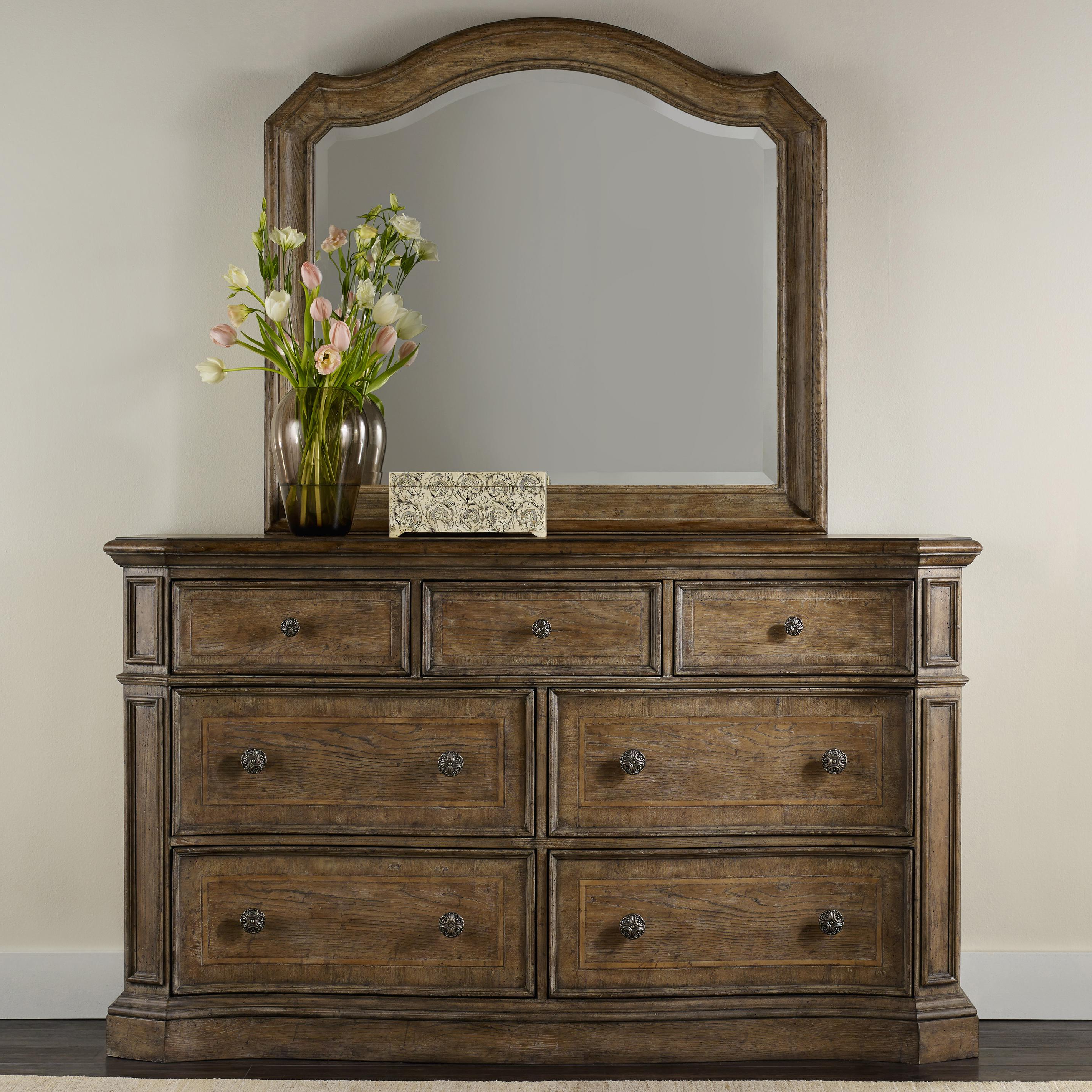 2019 Solana Sideboards With Regard To Solana 7 Drawer Dresser And Mirror Set With Serpentine Shapinghamilton  Home At Rotmans (View 2 of 20)