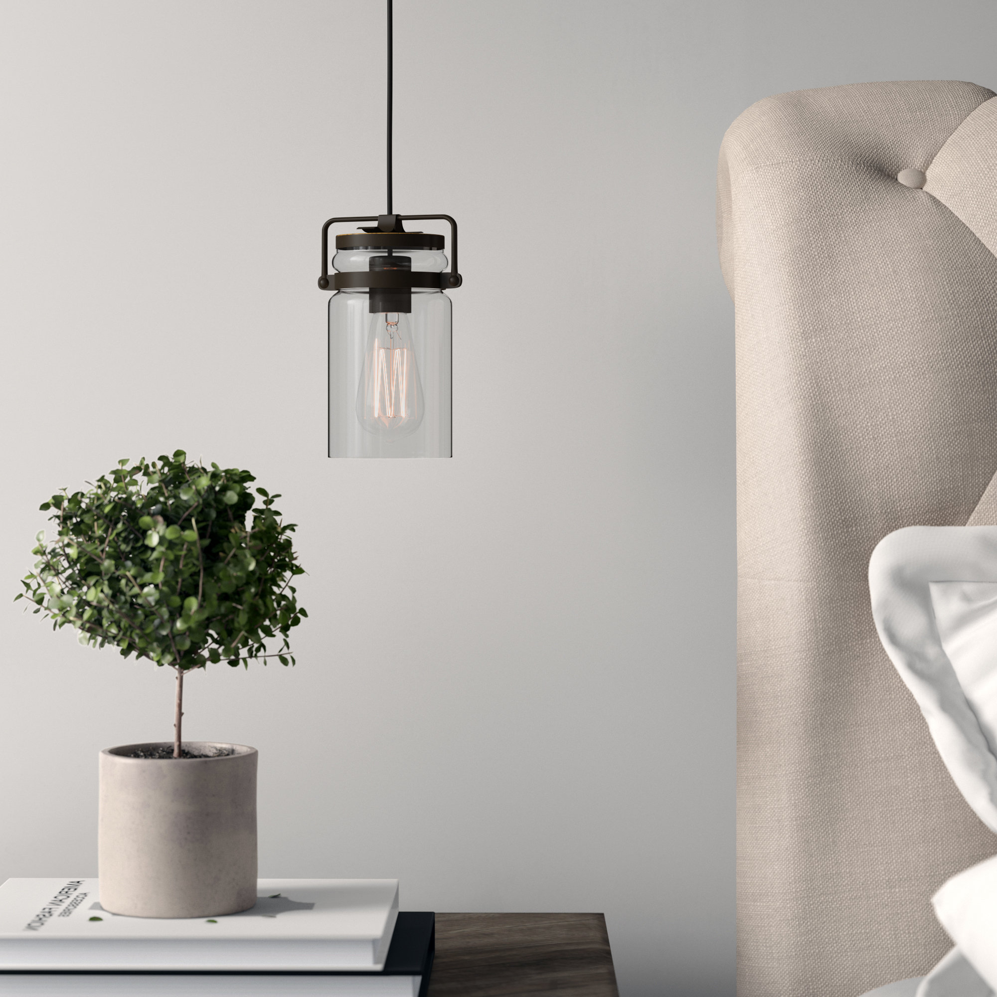 2019 Sue 1 Light Single Jar Pendant Regarding Barrons 1 Light Single Cylinder Pendants (View 1 of 20)