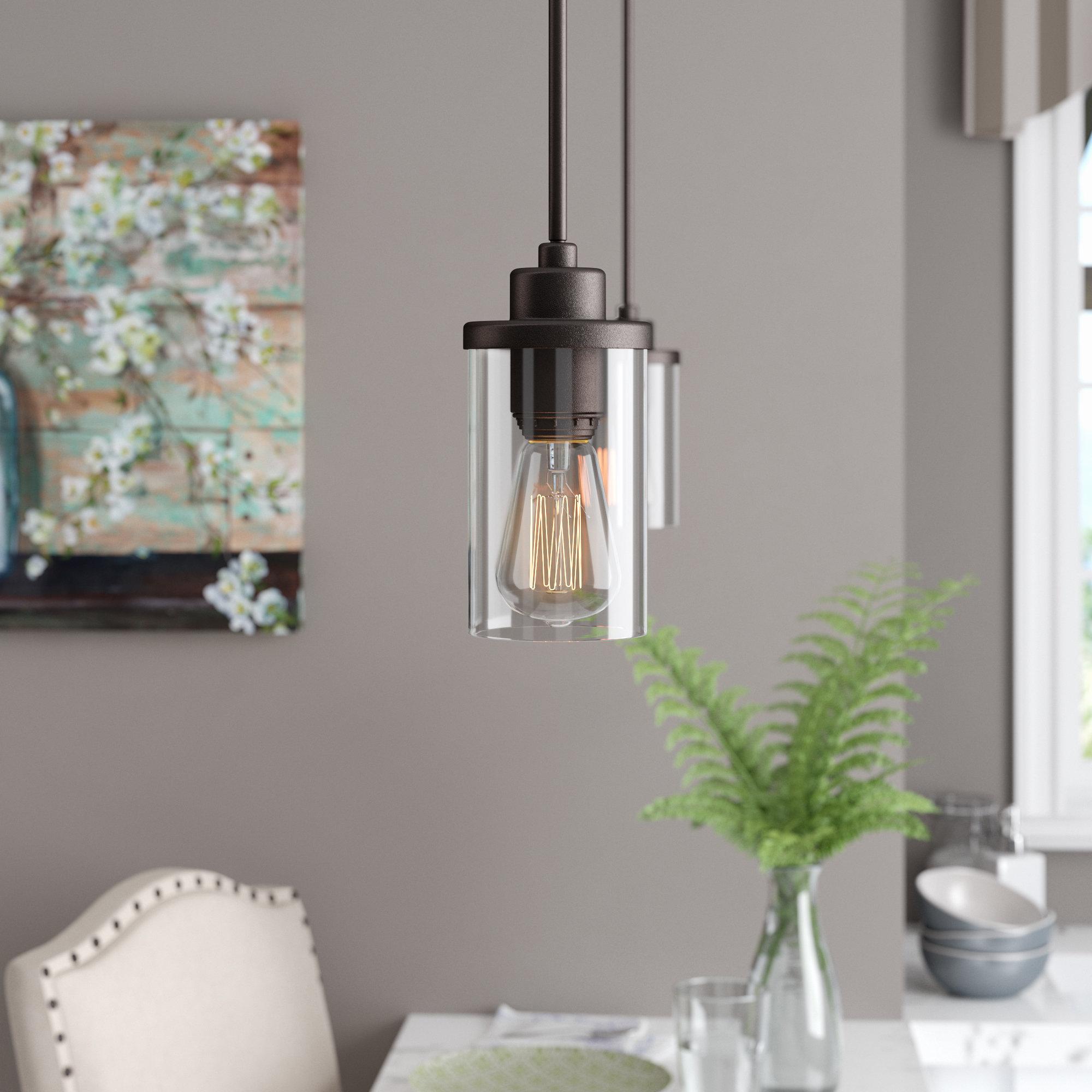 2019 Sue 1 Light Single Jar Pendants Inside Laurel Foundry Modern Farmhouse Florine 1 Light Single (View 1 of 20)