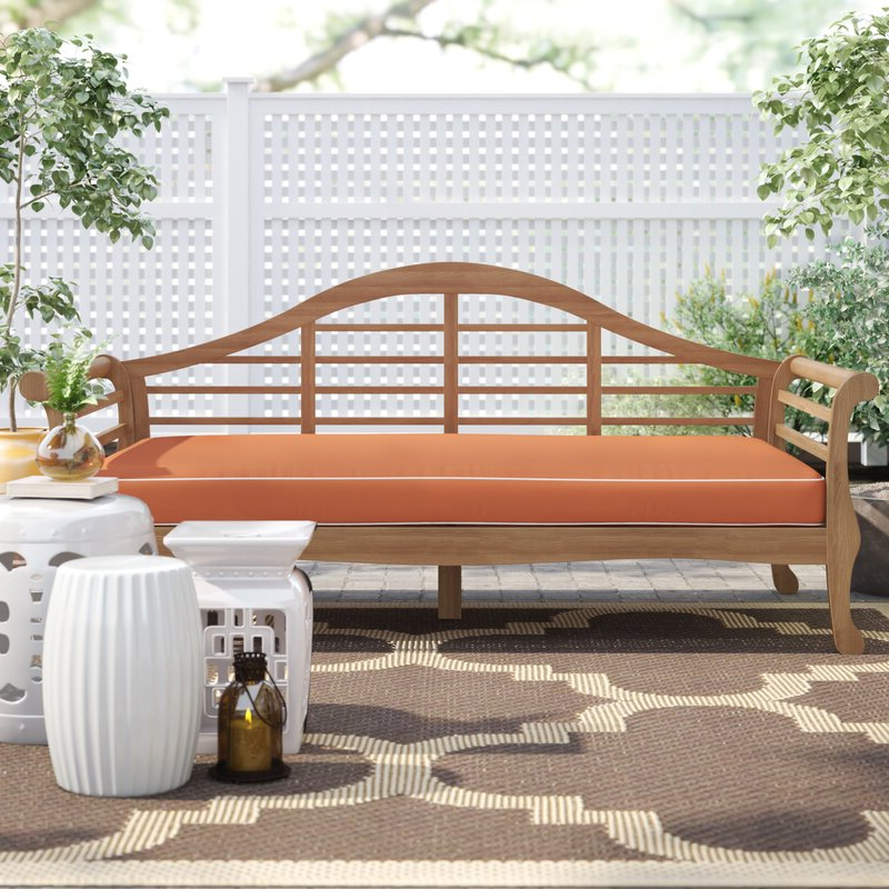 2019 Summerton Teak Patio Sofas With Cushions In Summerton Teak Patio Sofa With Cushions (View 5 of 20)