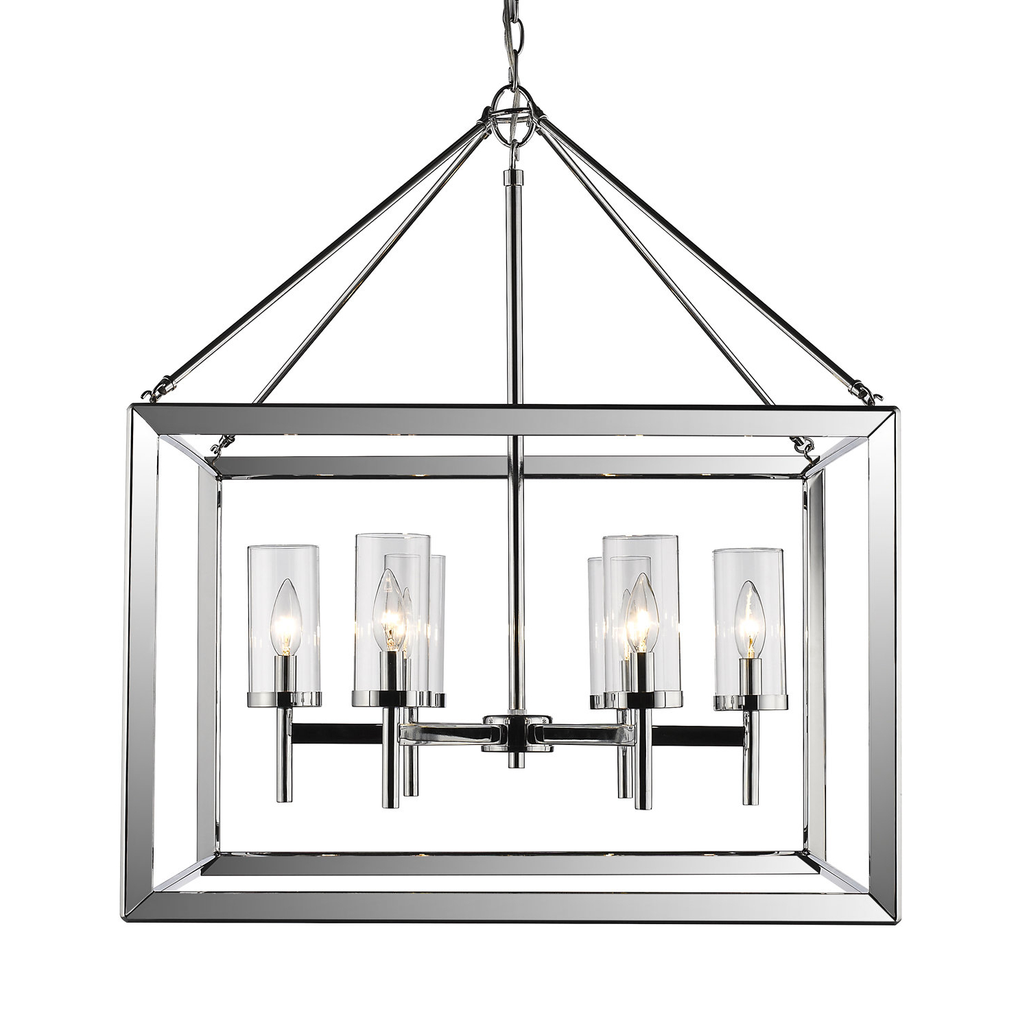 2019 Thorne 6 Light Lantern Square / Rectangle Pendants Inside Three Posts Thorne 6 Light Lantern Pendant & Reviews (View 1 of 20)