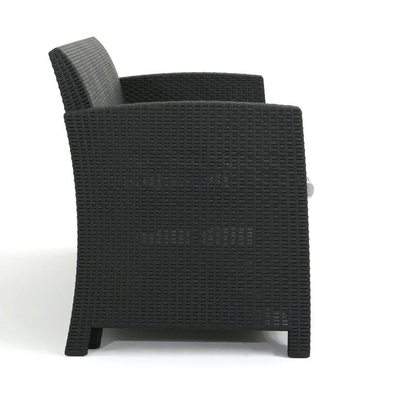 2019 Yoselin Patio Sofa With Cushions For Yoselin Patio Sofas With Cushions (View 1 of 20)