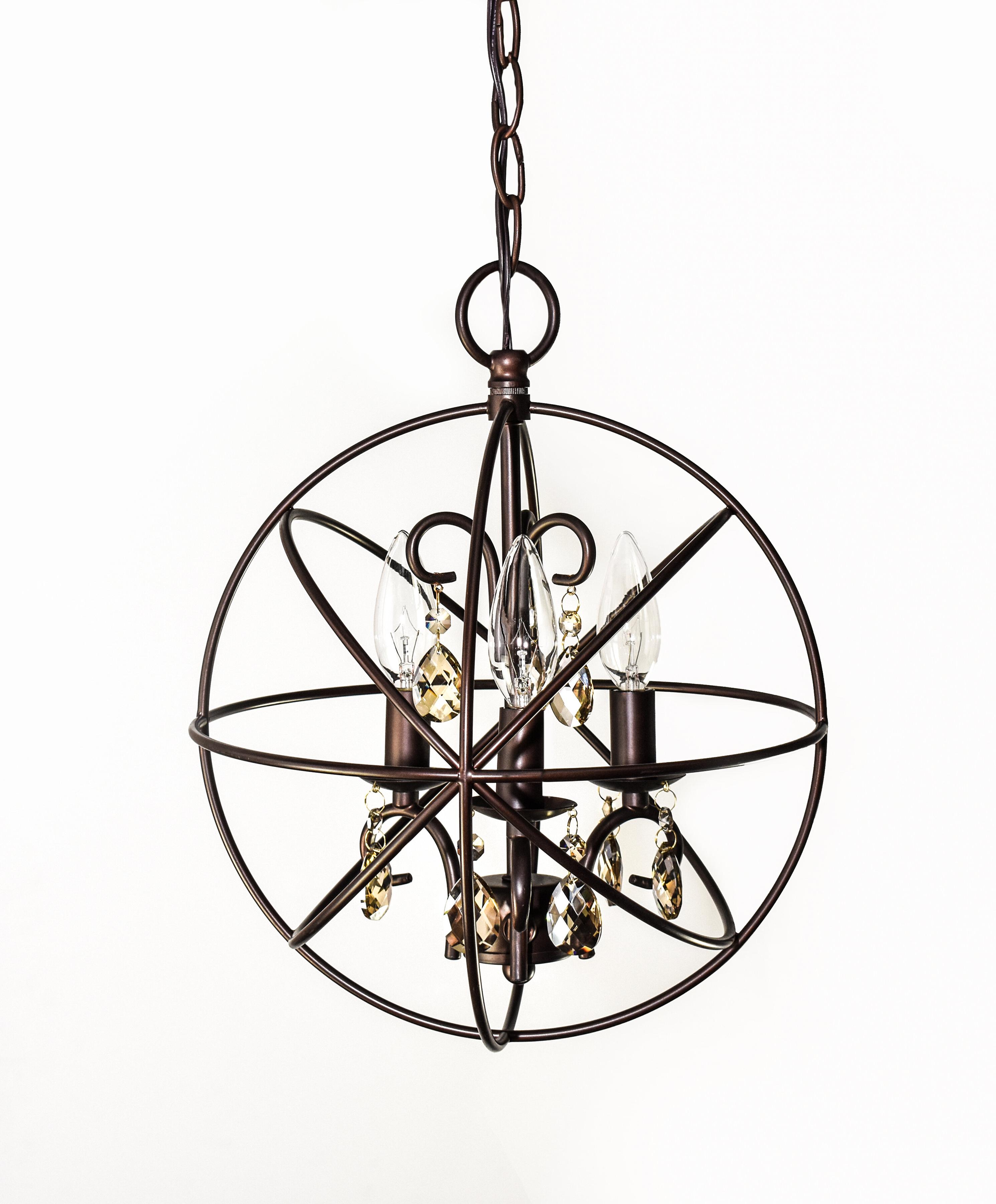 2020 Alden 3 Light Globe Pendant Throughout Alden 3 Light Single Globe Pendants (Gallery 2 of 20)