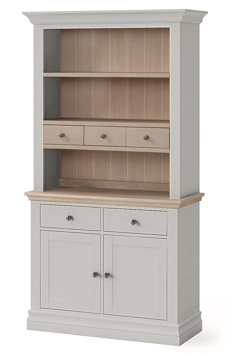 2020 Annecy Stone Grey Small Open Hutch For Annecy Sideboards (Gallery 7 of 20)