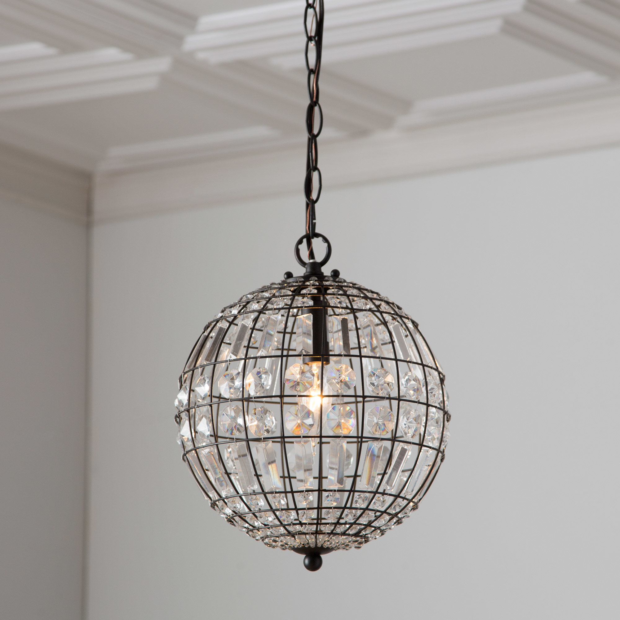 2020 Birch Lane™ Heritage Elivra 1 Light Globe Pendant For Demi 1 Light Globe Pendants (Gallery 7 of 20)