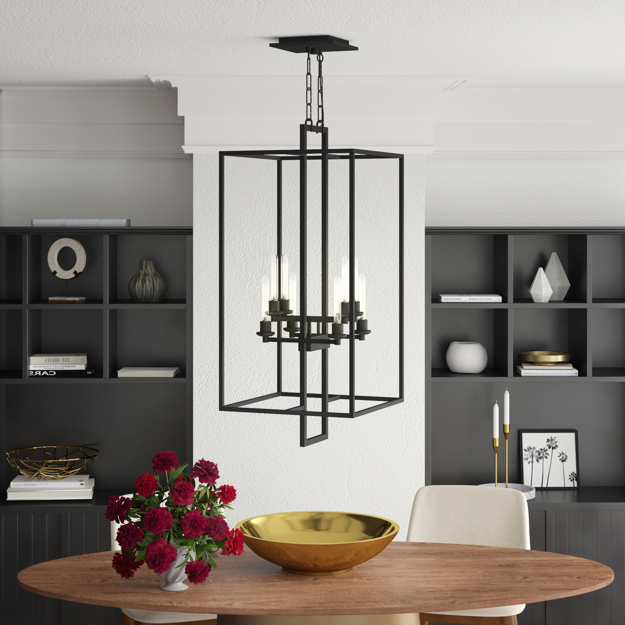2020 Borkowski 8 Light Square/rectangle Chandelier Throughout Odie 8 Light Kitchen Island Square / Rectangle Pendants (View 1 of 20)