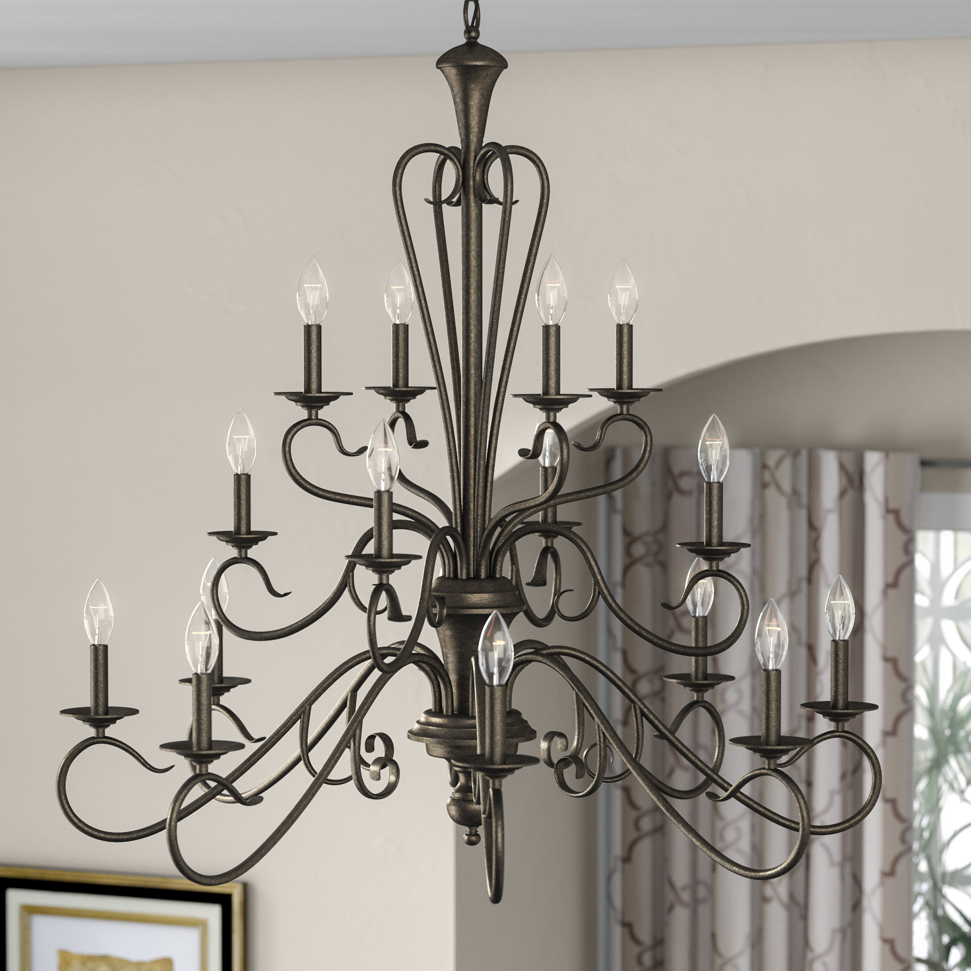 2020 Bouchette Traditional 6 Light Candle Style Chandeliers Pertaining To Birchview 16 Light Candle Style Chandelier (Gallery 20 of 20)