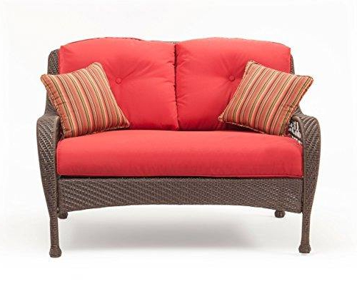 2020 Bristol Loveseats With Cushions Throughout Lazboy Outdoor Bristol Resina Muebles De Mimbre Patio Juego (Gallery 17 of 20)