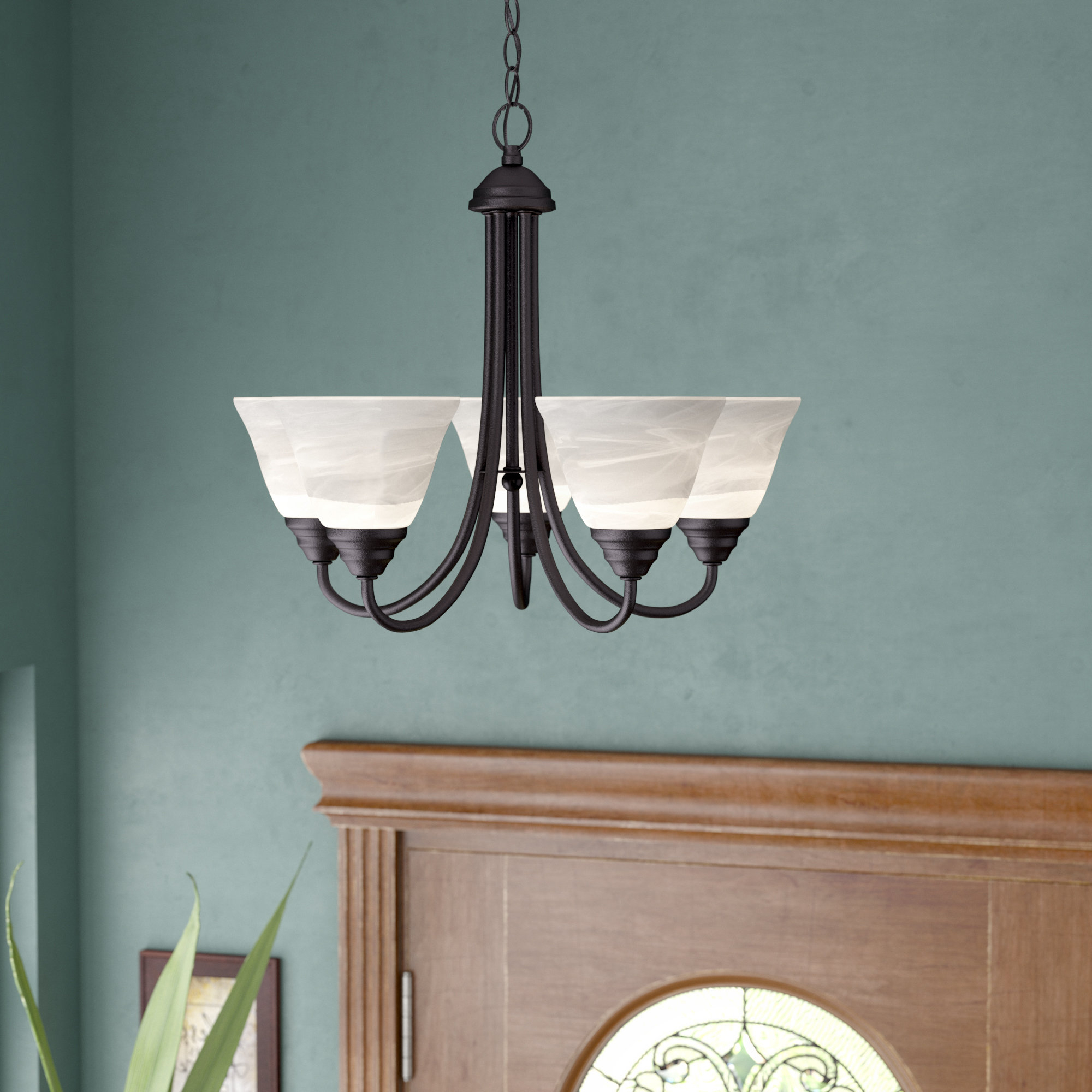 2020 Crofoot 5 Light Shaded Chandeliers With Eichelberger 5 Light Shaded Chandelier (View 4 of 20)